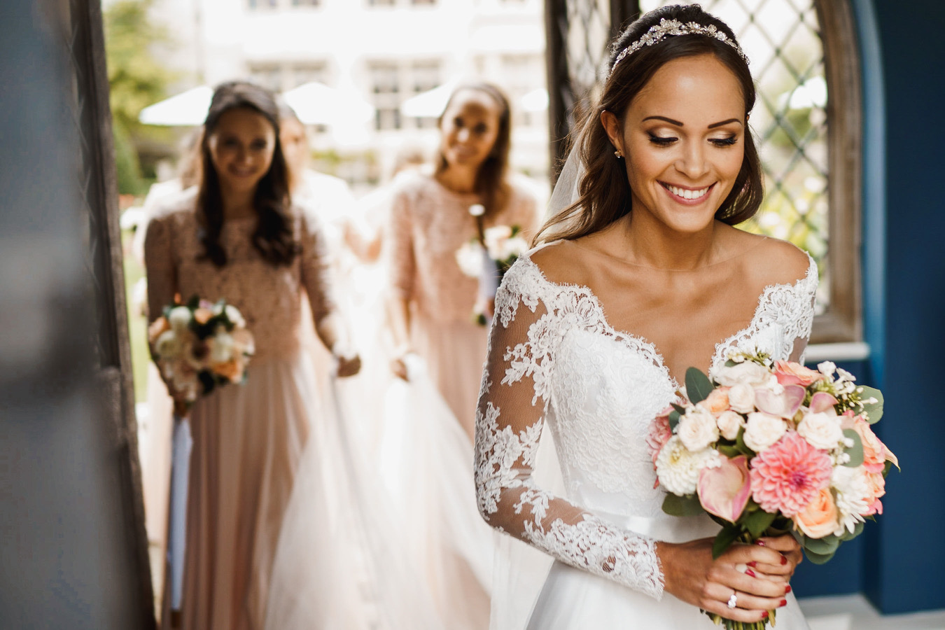 Real Brides - Tatiana Dean - by bridal designer Suzanne Neville