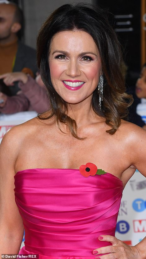 Susanna Reid in pink strapless dress to the Pride of Britain Awards 2019