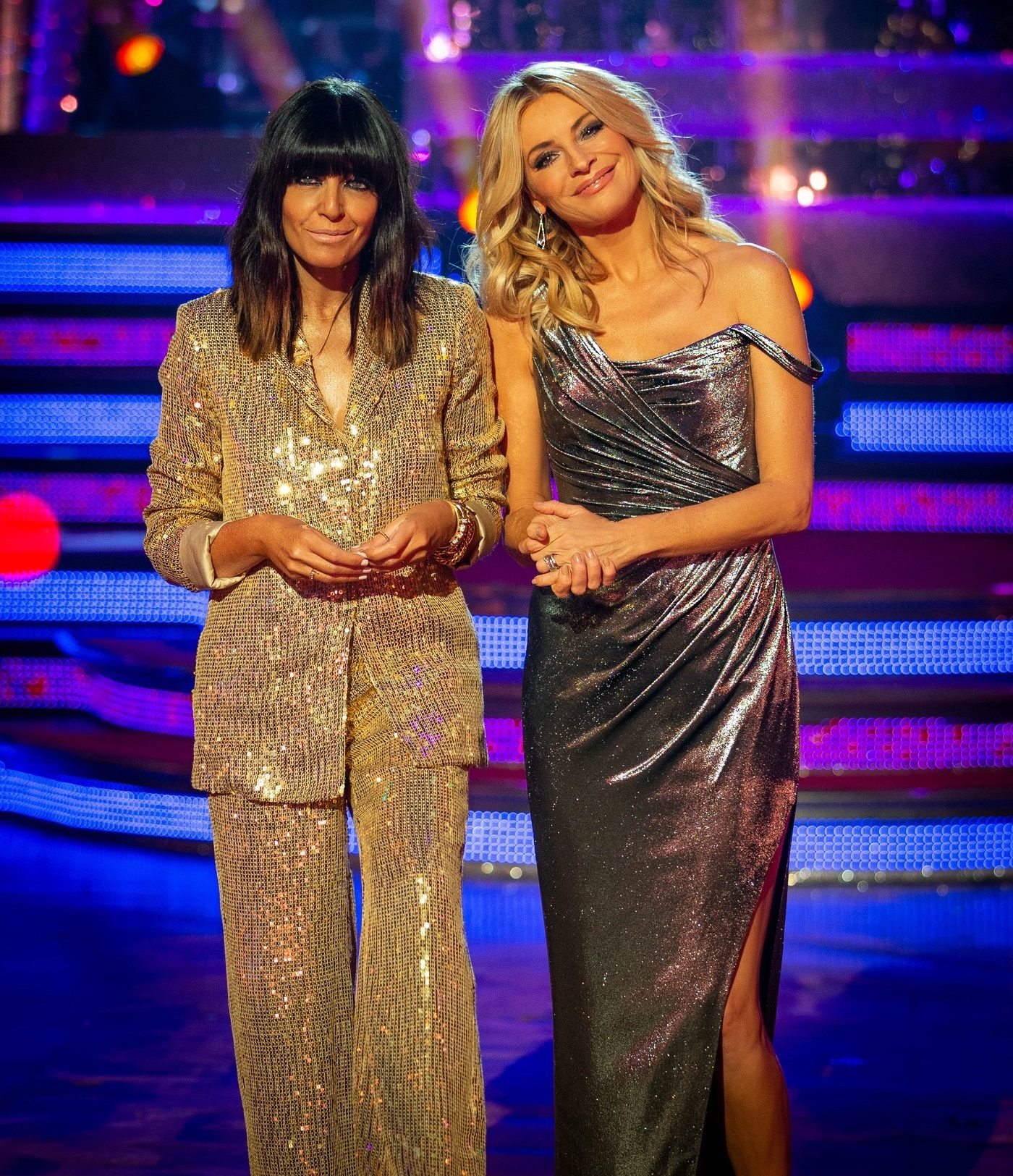 Tess Daly - Silver Dress - Strictly Come Dancing Blackppol 2019