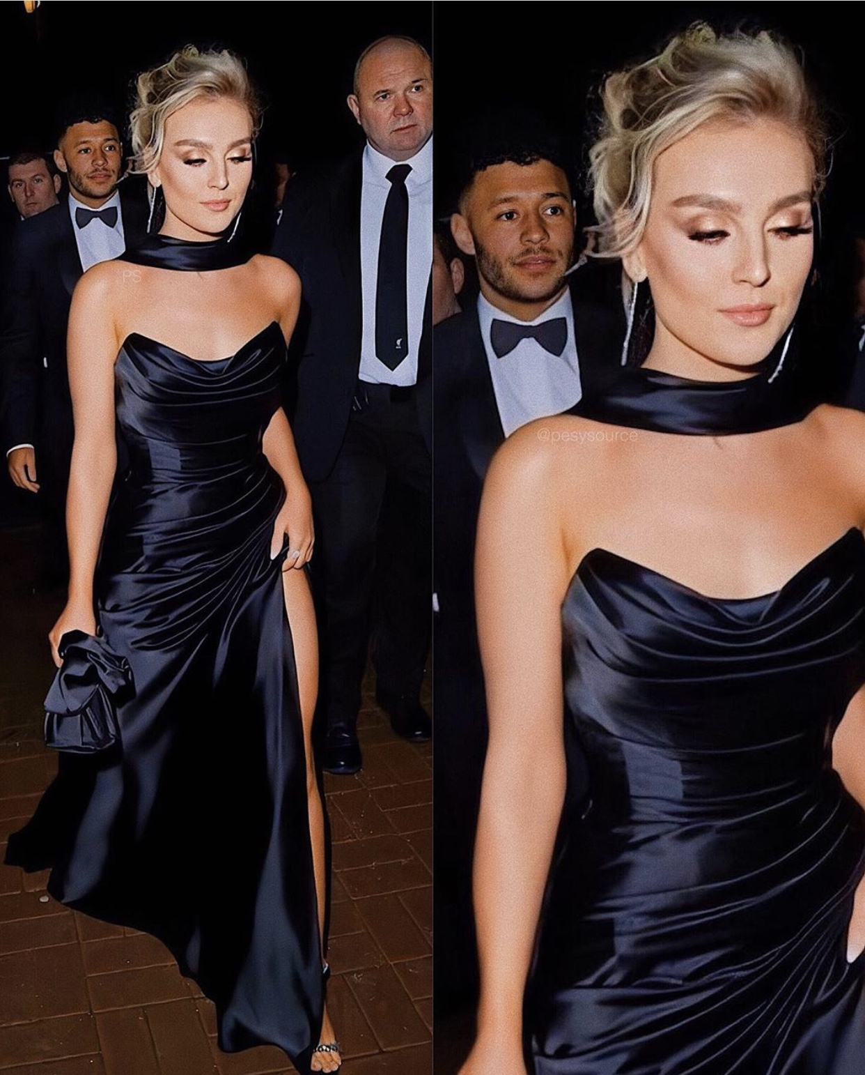 Little Mix Perrie Edwards - Black Dress - Charity Ball in Manchester